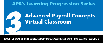 Advanced Payroll Concepts Virtual Classroom